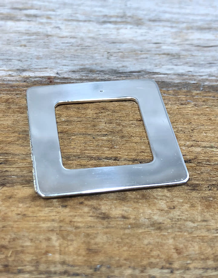 MSS1105 = Sterling Washer Square 1'' (22ga)