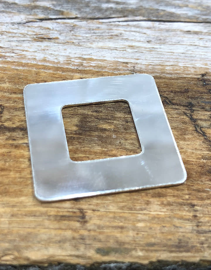 MSS1106 = Sterling Washer Square 1'' (22ga)