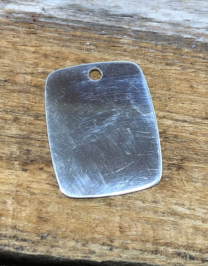 MSS2023 = Sterling Stamping RECTANGLE 18.9 x 24.3mm with TOP HOLE (20ga)