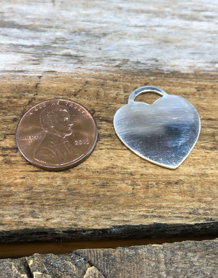 MSS2062 = Sterling Stamping HEART 23.9 x 21.8mm with TOP LOOP (20ga)