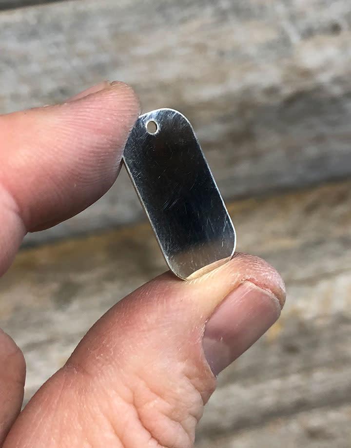 MSS2403 = Sterling Stamping DOG TAG 13 x 25.4mm (24ga)