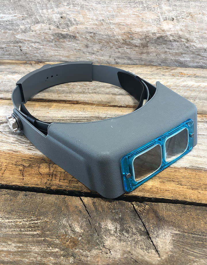EL9990 = Binocular Magnifier Visor Includes 4 Glass Lenses