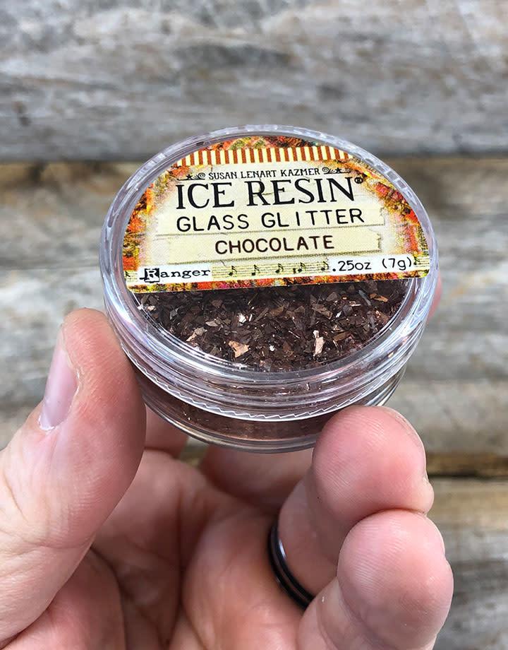 CE795 = Ice Resin German Glass Glitter - Chocolate