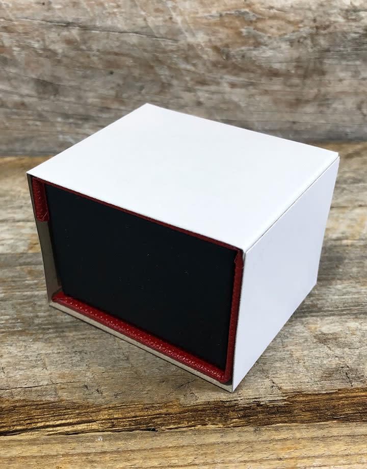 DBX4150 = Deluxe Magnetic Red/Black Ring Box 1-7/8'' x 2-1/4'' x 1-1/2''