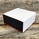DBX4151 = Deluxe Magnetic Red/Black Combination Box 3-3/8'' x 3-3/8'' x 1-3/8''