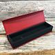 DBX4153 = Deluxe Magnetic Red/Black Bracelet/Watch Box 8-3/4'' x 2-1/4'' x 1''
