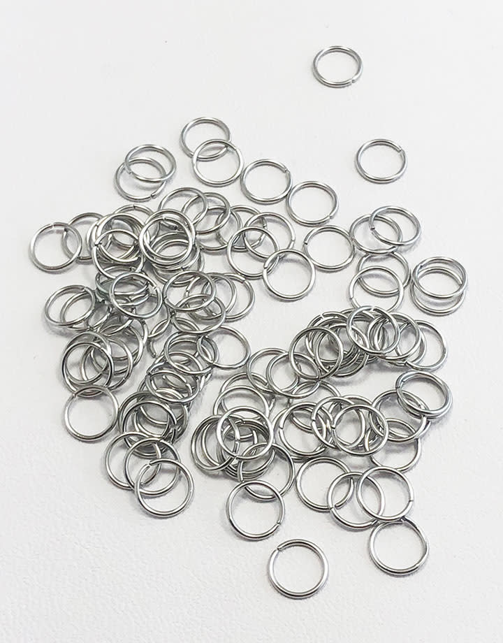 900L-6024 = Stainless Steel Jump Ring 22ga, 6mm ID, (Pkg of 100)