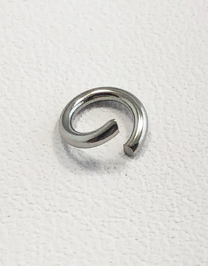 904L-6040 = Stainless Steel Jump Ring Pre-open 18ga, 6mm ID (Pkg of 100)