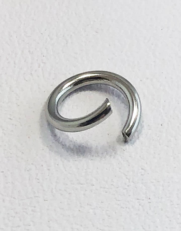904L-7040 = Stainless Steel Jump Ring Pre-open 18ga, 7mm ID (Pkg of 100)