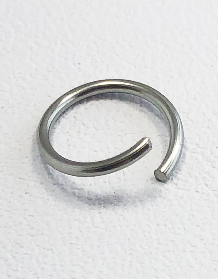 904L-8032 = Stainless Steel Jump Ring Pre-open 20ga, 8mm ID (Pkg of 100)