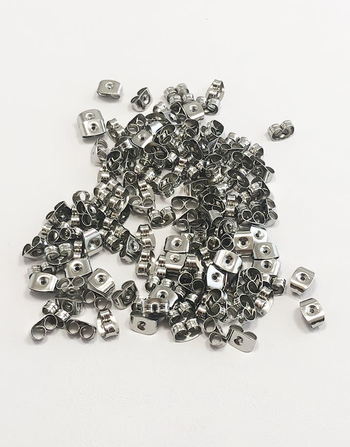 909L-06 = Stainless Steel Earring Backs (Pkg of 144)