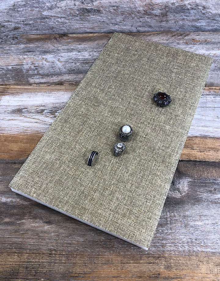 DRG3000 = Foam Ring Tray Insert with 72 Spaces - Burlap