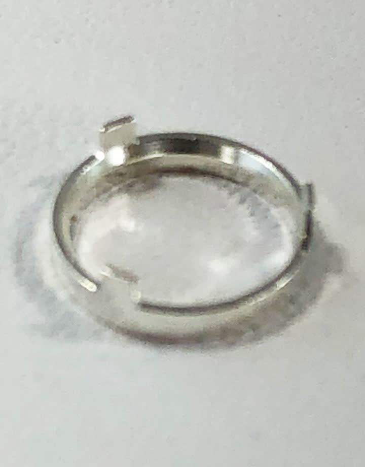 513S-6.0 = 6.0mm 3 Prong Bezel (1.0mm High)