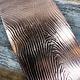 CSP3224 = Patterned Copper Sheet ''Wood Grain''  2'' x 6'' 24ga