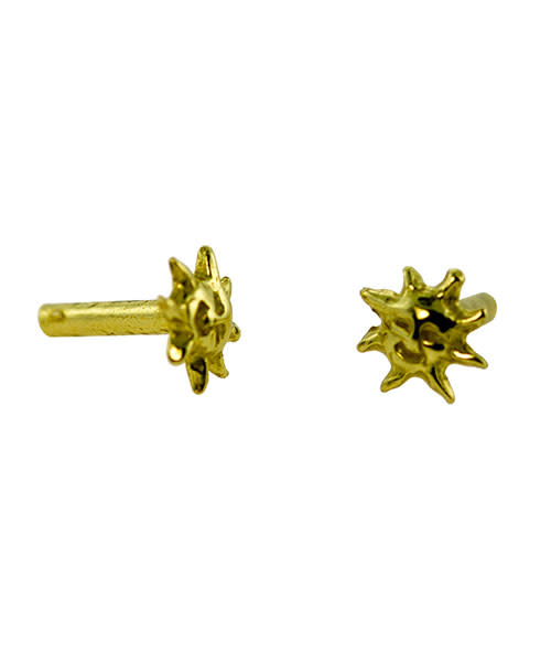 CCCP1206 = COPPER PLATED BRASS RIVET SUN (Pkg of 10)