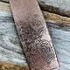 CSP4318 = Patterned Copper Sheet ''Paisley Garden''  2'' x 6'' 18ga