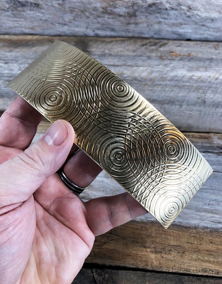 BSP31 = Patterned Brass Sheet ''Sonar'' 2'' x 6'' (Choose Guage)