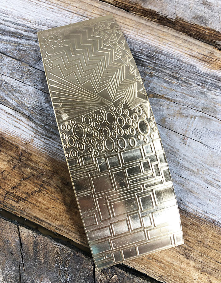 BSP38 = Patterned Brass Sheet ''Multi Pattern'' 2'' x 6'' (Choose Guage)