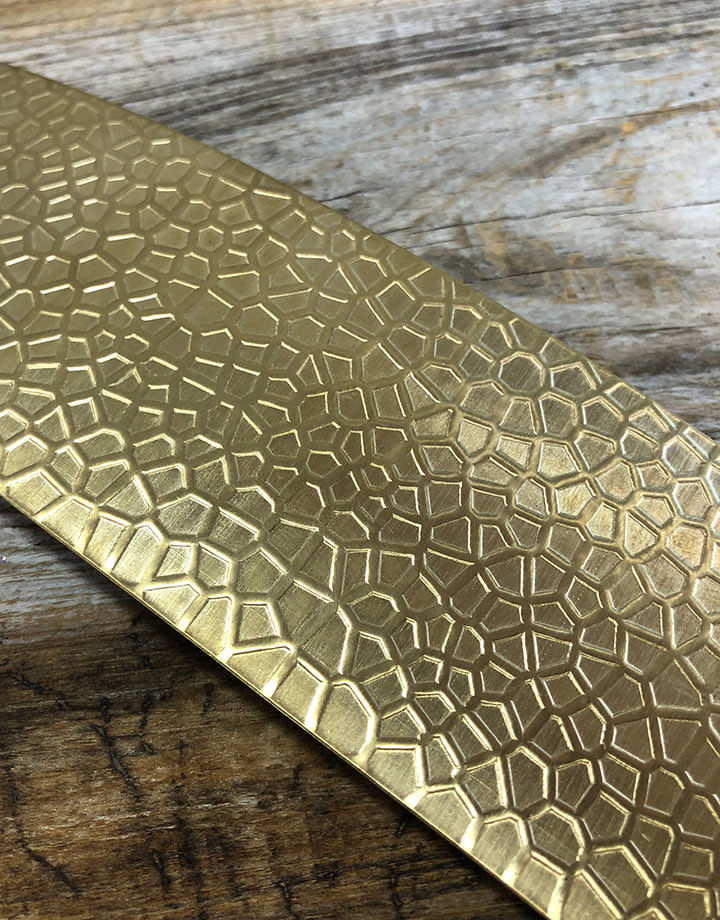 BSP47 = Patterned Brass Sheet ''Lake Bed'' 2'' x 6'' (Choose Guage)