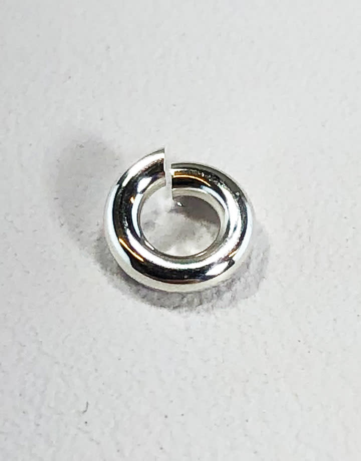 900S-2.5H = Open Jump Ring Sterling Silver 2.5mm ID x .050'' (16ga) (Pkg of 10)