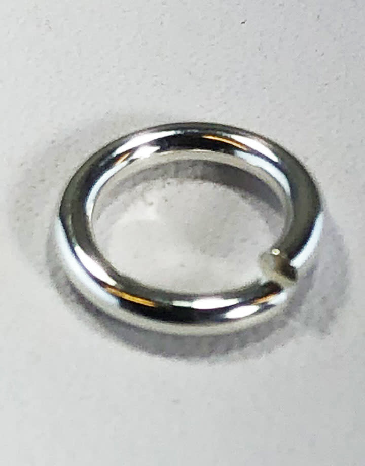 900S-5.5H = Open Jump Ring Sterling Silver 5.5mm ID x .050'' (16ga) (Pkg of 10)