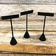 DER1254 = Black Value Velvet Earring Display 5-1/2'' high (Pkg of 3)