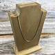 """DCH8901 = Wood Necklace Stand 6"""" Tall"""