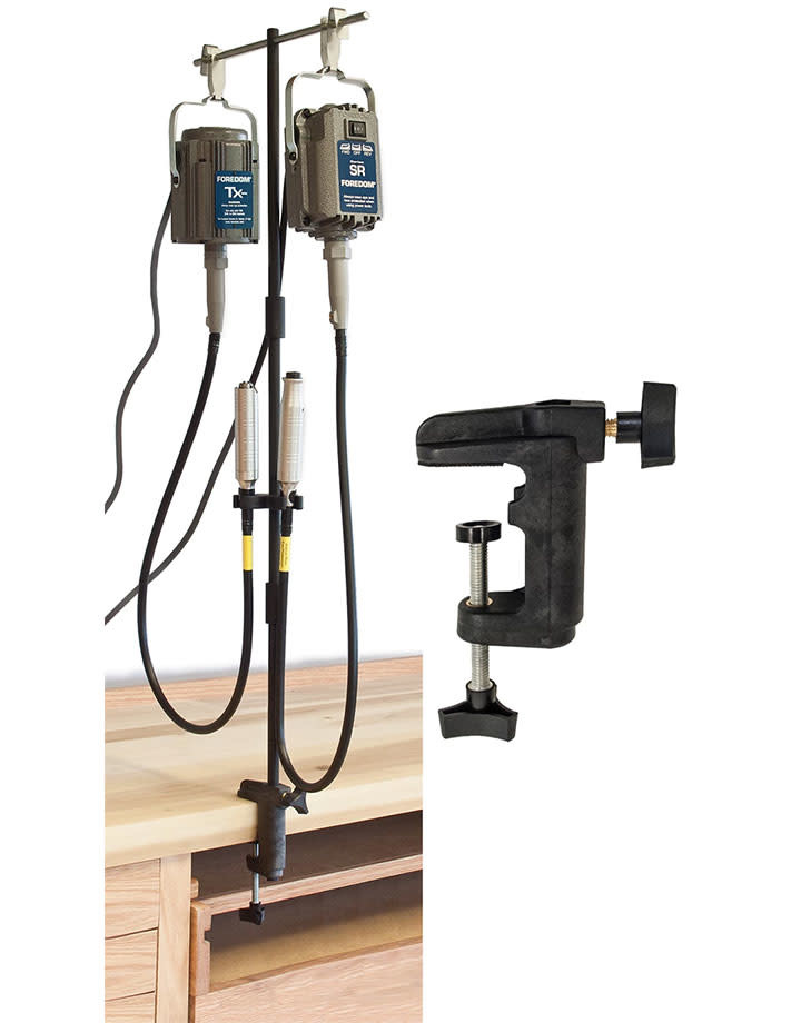 Foredom Electric 34.613 = Foredom Flexshaft Double Motor Hanger with Mounting Clamp