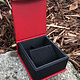 DBX4154 = Deluxe Magnetic Red/Black Earring/Pendant Box (Each)