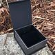 DBX4254 = Deluxe Magnetic Black/Silver Earring/Pendant Box (Each)