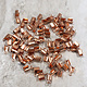 500CU-12 = Fold Over Chain End Copper 8mm (Pkg of 100)