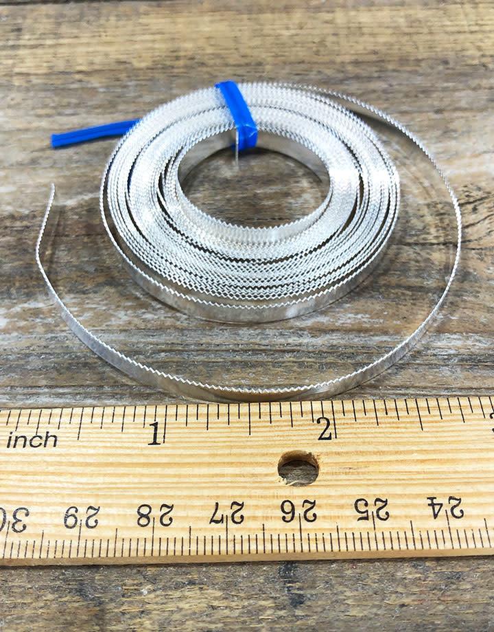 SSRBW3 = Bezel Wire Serrated Fine Silver 4.77mm x 28ga  (Sold per foot)