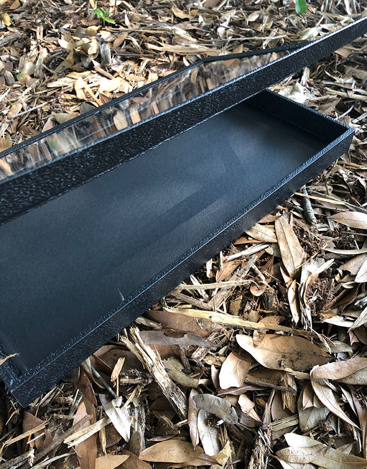 DTR1350 =  Jewelry Tray with a Magnetic See Through Lid 1'' Deep