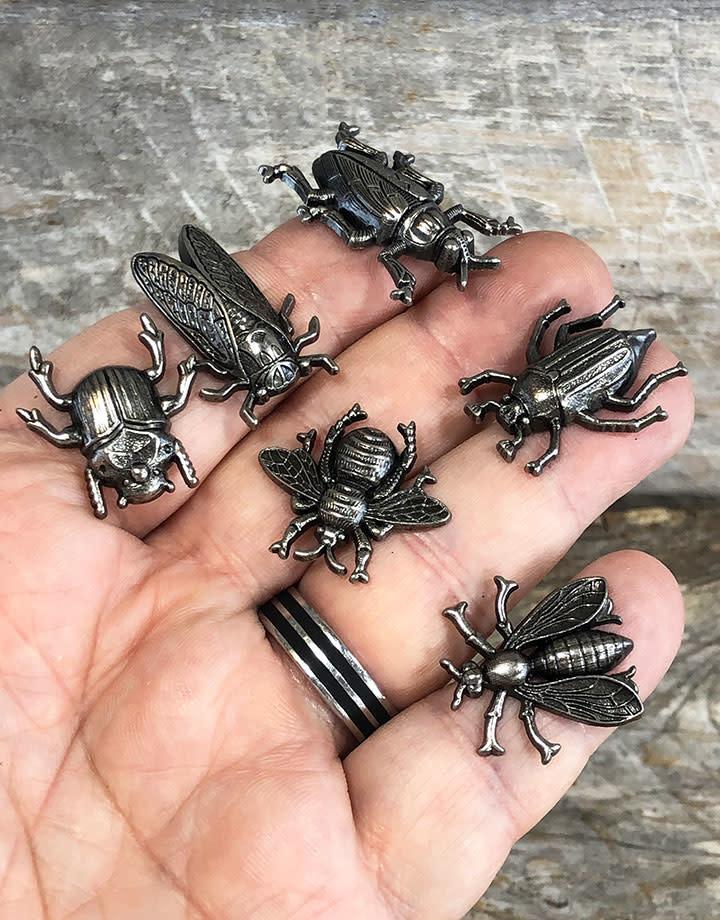 Tim Holtz Idea-ology EB2048 = Entomology Adornments by Tim Holtz (Pkg of 6)