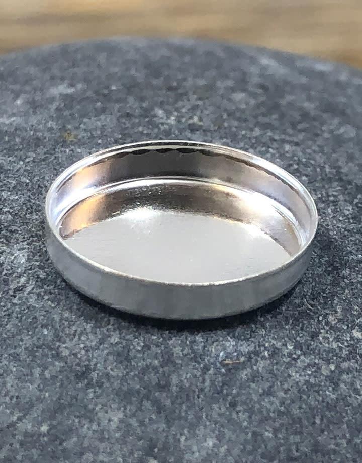 515S-12x10 = Sterling Silver 12x10 Oval Bezel Cup (Pkg/5)