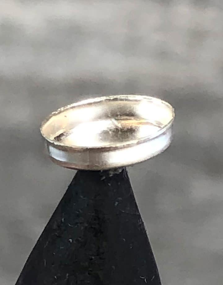 515S-7x5 = Sterling Silver 7x5 Oval Bezel Cup (Pkg/5)