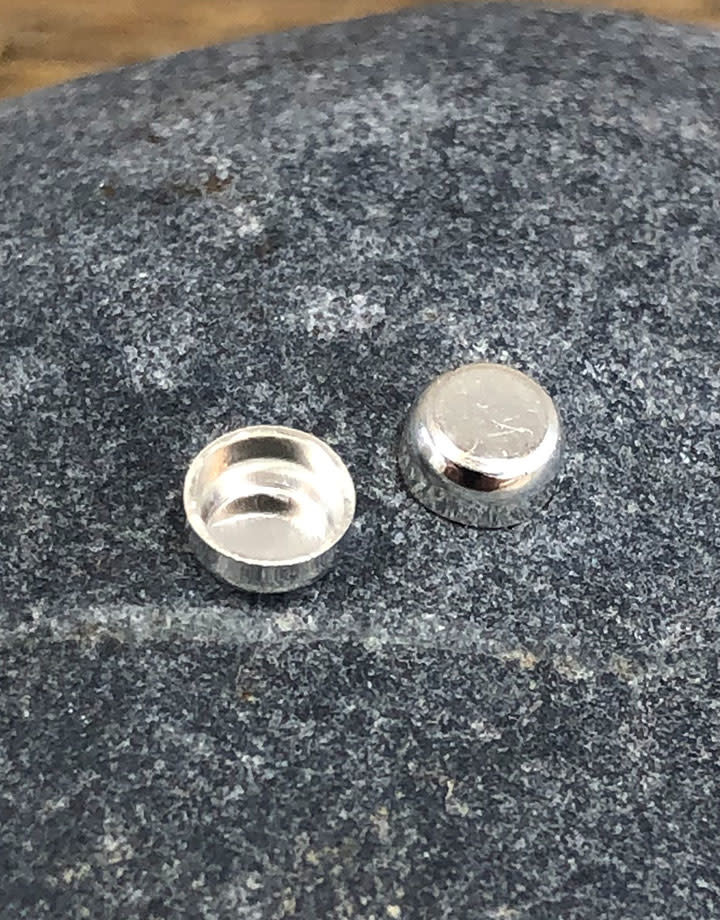 514S-3.0 = Sterling Silver 3mm Round Bezel Cup (Pkg/5)