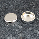 514S-6.0 = Sterling Silver 6mm Round Bezel Cup (Pkg/5)