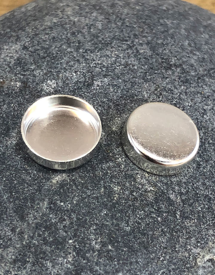514S-8.0 = Sterling Silver 8mm Round Bezel Cup (Pkg/5)