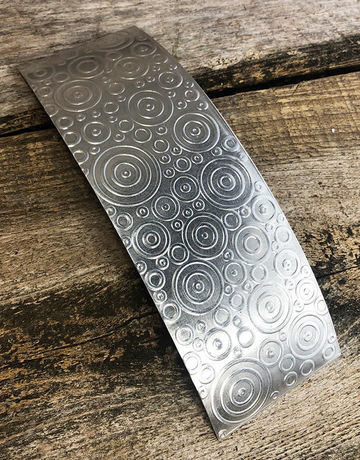 ASP4820 = Patterned Aluminum Sheet ''Bubbles'' 2'' x 6'' 20ga