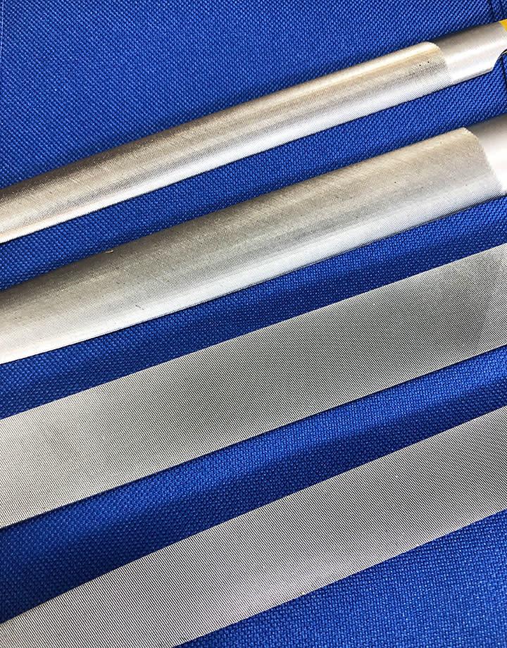 Grobet USA 30.299V = Inox Hand File Set Cut 2 (4pcs)