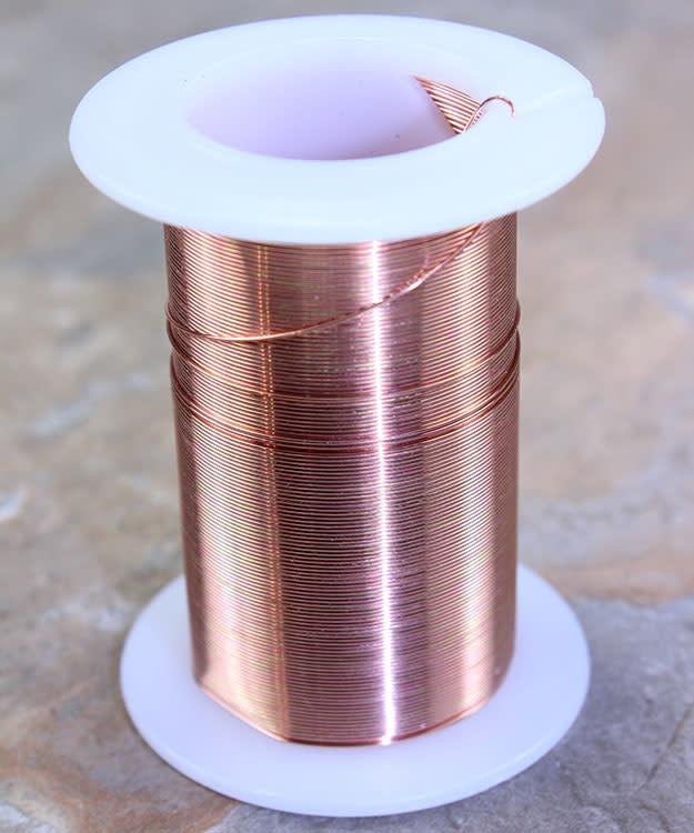 WR6026C = Tarnish Resistant Craft Wire Copper Color 26ga - 34yd Spool