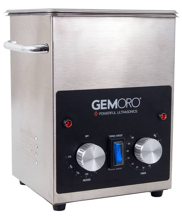 GemOro CL1732 = 2qt Next-Generation Ultrasonic Cleaner with Heater by GemOro