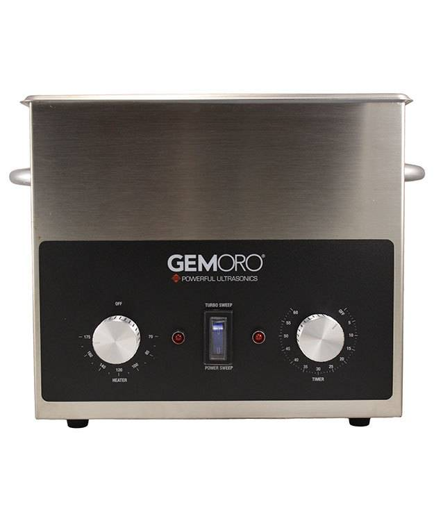 GemOro CL1735 = 3qt Next-Generation Ultrasonic Cleaner with Heater by GemOro