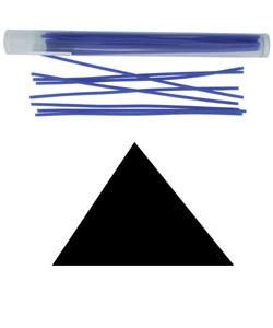 CA693-12 = Wax Wire Blue TRIANGLE 12ga