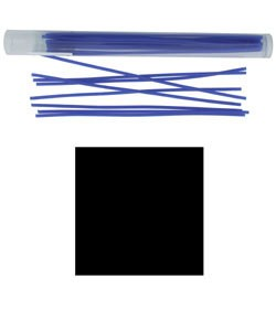 CA694-14 = Wax Wire Blue SQUARE 14ga