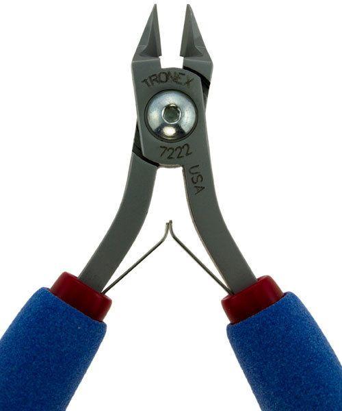 Tronex PL37222 = Tronex 7222 Tapered Head Flush Cutter - Long Ergo Handle
