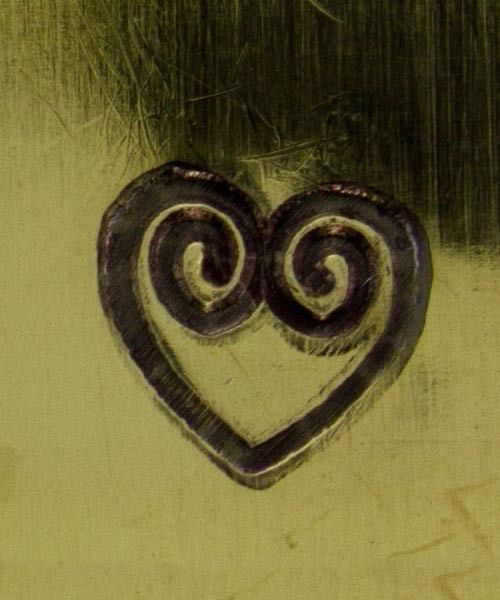 PN5134 = WHIMSICAL DESIGN STAMP - Double spiral heart
