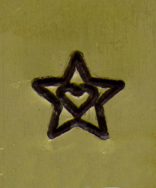 PN5076 = WHIMSICAL DESIGN STAMP - Star with heart