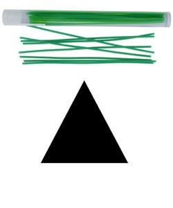CA693-08 = Wax Wire Blue TRIANGLE 8ga